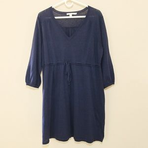 BODEN Knit Dress Navy Blue Empire Waist US 18 1X